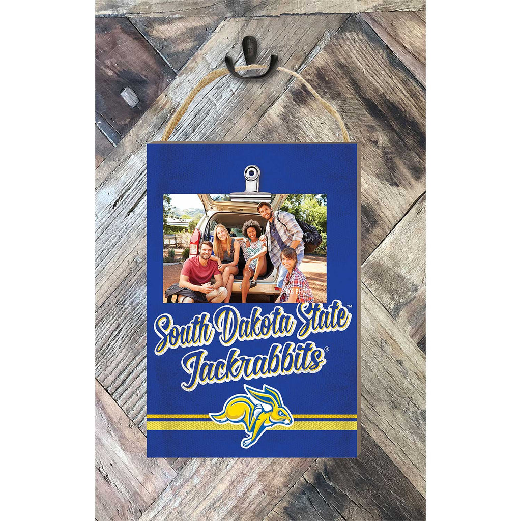 Hanging Clip Photo Frame Colored Logo South Dakota State University Jackrabbits