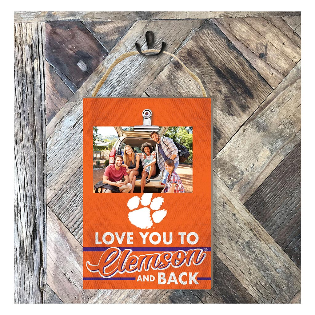 Hanging Clip Photo Frame Love You To Clemson Tigers