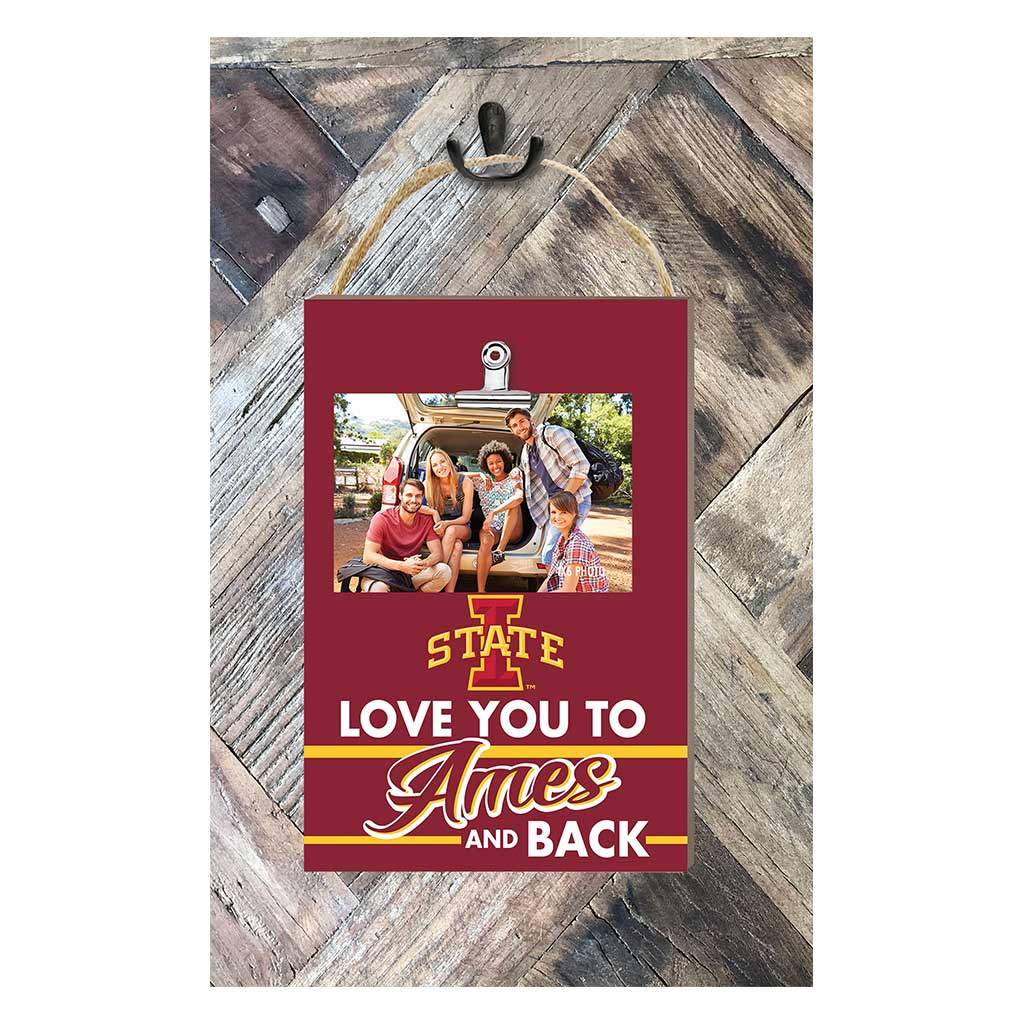 Hanging Clip Photo Frame Love You To Iowa State Cyclones