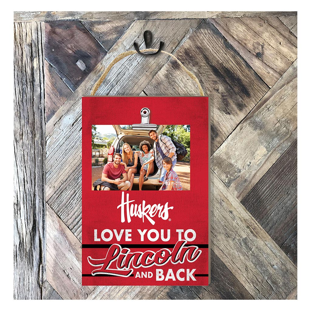Hanging Clip Photo Frame Love You To Nebraska Cornhuskers