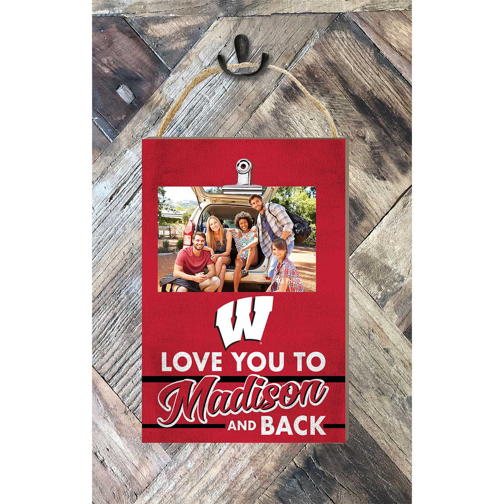 Hanging Clip Photo Frame Love You To Wisconsin Badgers