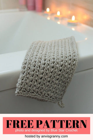 Straight Hooked Easy Crochet Washcloth from Blue Star Crochet