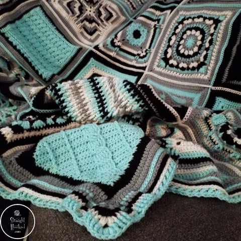 Patchwork Mystery CAL Razzle Dazzle Corner Straight Hooked Crochet