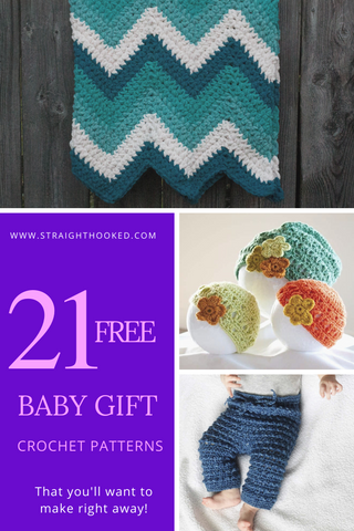 StraightHooked 21 free baby gift crochet patterns