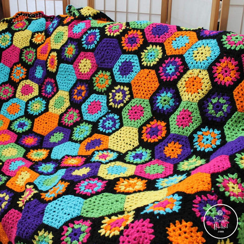 StraightHooked Granny Hexagon Blanket