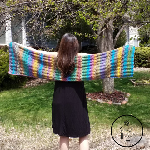 Straight Hooked Mermaid Waves Shawl