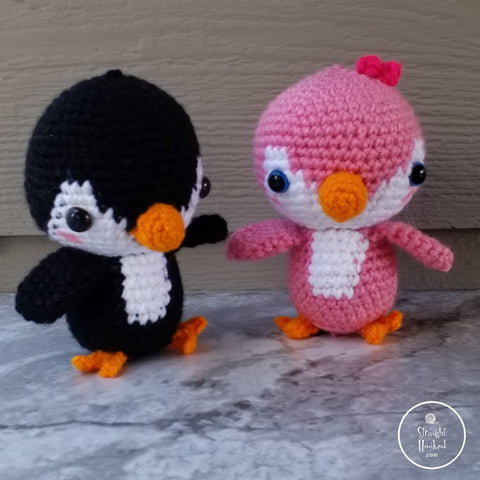 Straight Hooked Pen and Gwen Baby Penguins