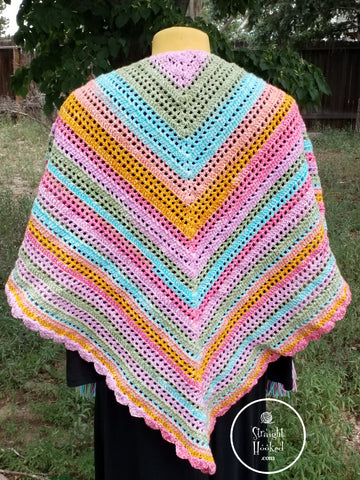 Straight Hooked Friendship Prayer Shawl