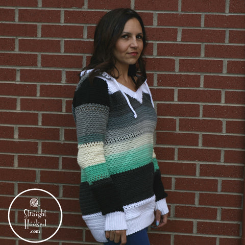 Straight Hooked Malena in Bayside Sweater
