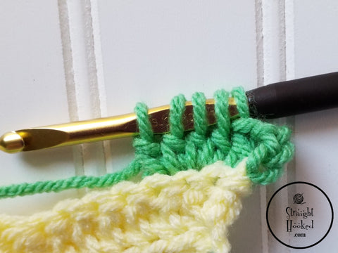 Straight Hooked Bobble step 3