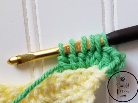 Straight Hooked Bobble step 4