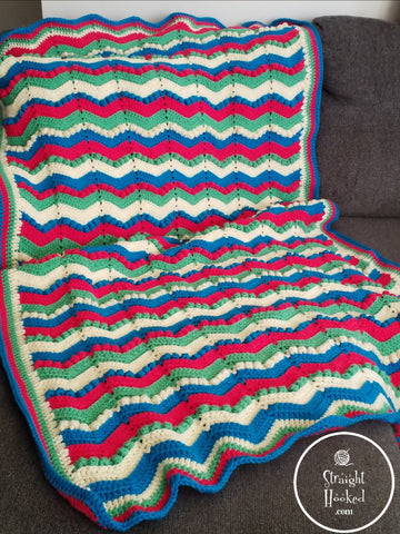 Straight Hooked Spring Blossom Lapghan