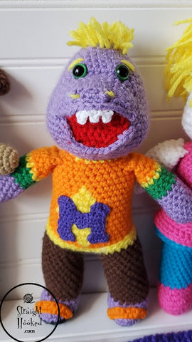 Straight Hooked Chuck E Cheese Mr Munch Crochet All Day