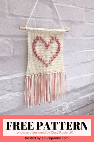 Straight Hooked Show The Love Wall Hanging from Cosy Rosie