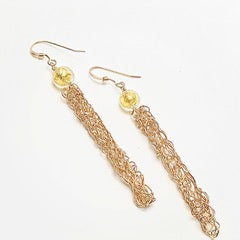 SASS gold wire earrings Straight Hooked