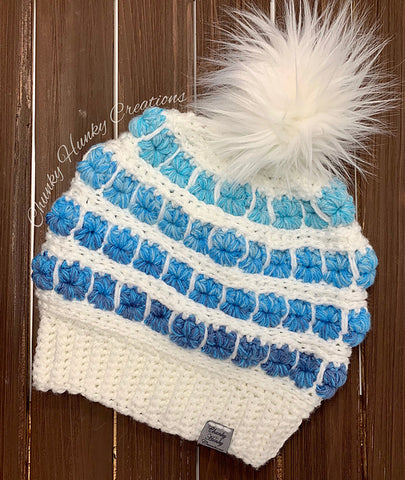 Straight Hooked Frost Smitten Beanie Chunky Hunky Creations