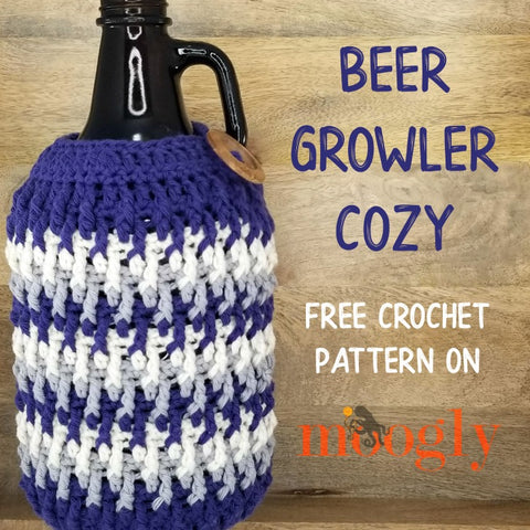 Straight Hooked Beer Growler Cozy Moogly
