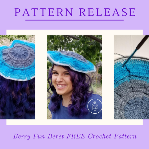 Straight Hooked Berry Fun Beret Pattern Release