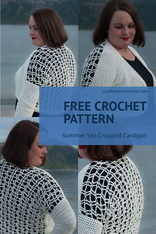 Straight Hooked Summer Sea Cropped Cardigan Joy Of Motion Crochet