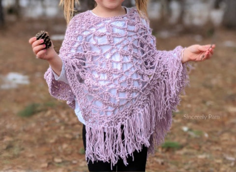 Butterfly Breeze Poncho Sincerely Pam Straight Hooked