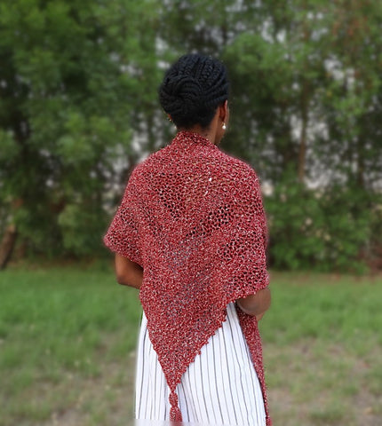 Corner to Corner Mesh Shawl Loopingly Made Straighthooked