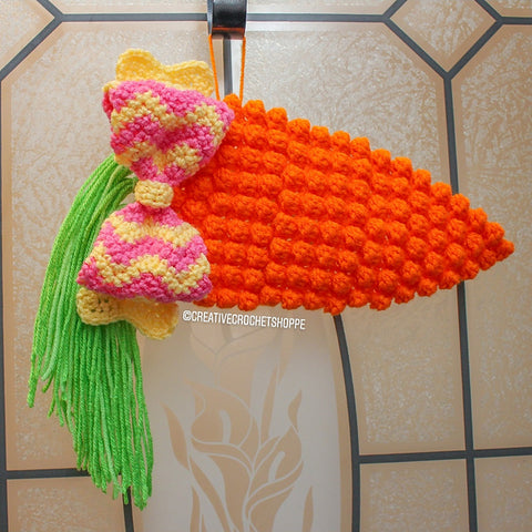 Carrot Wall Hanging CCrochet Straight Hooked
