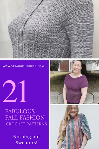 Straight Hooked 21 Crochet Sweater Patterns