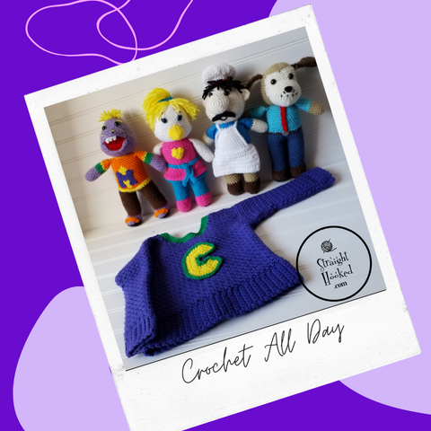 Straight Hooked Crochet All Day Chuck E. Cheese