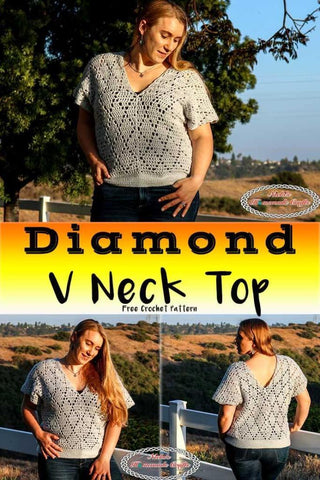 Diamond V-Neck Top Nickis Homemade Crafts Straighthooked