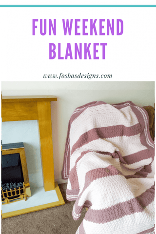 Straight Hooked Quick and Easy Blanket Fosbas Designs