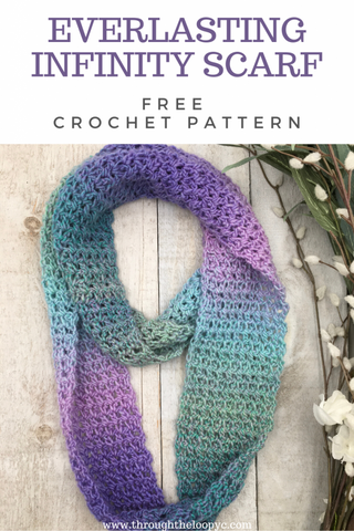 Everlasting Infinity Scarf Through The Loop Yarn Craft Straight Hooked