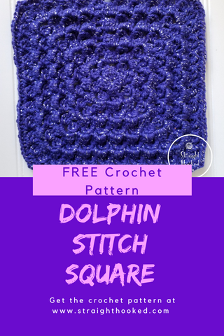 Straight Hooked Dolphin Stitch Square