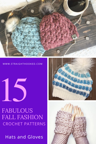 Straight Hooked Fabulous Fall Fashions Hats and Gloves