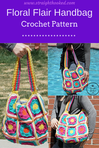 Straight Hooked Floral Flair Handbag Pattern Release