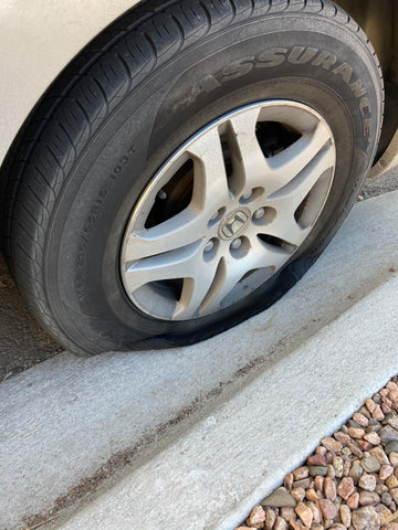 Straight Hooked got a flat tire
