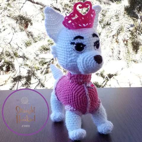 crocheted Amigurumi paw patrol sweetie handmade crochet doll StraightHooked Straight Hooked