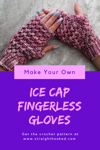 Straight Hooked Ice Cap Fingerless Gloves