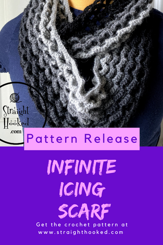 Straight Hooked Infinite Icing Scarf