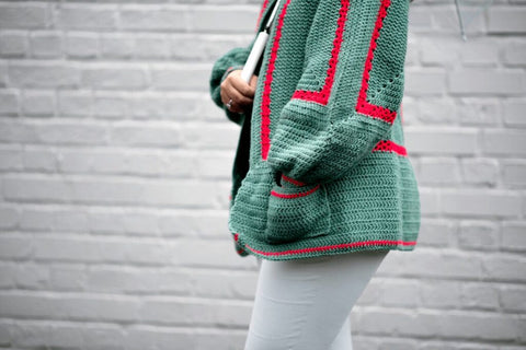 Straight Hooked Mathilda's Crochet Cardigan Knitting With Chopsticks
