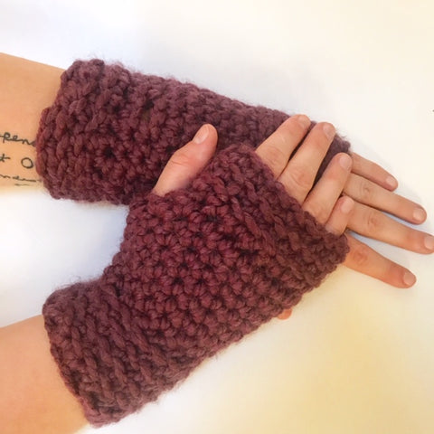 Oh So Cozy Fingerless Gloves Carroway Crochet