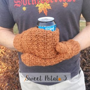 Straight Hooked Beer Thirty Mittens Sweet Potato 3