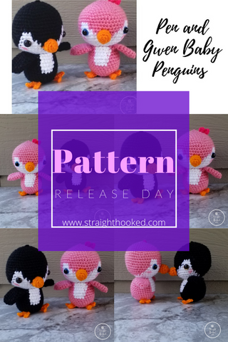 Straight Hooked Pen and Gwen Penguin Pattern Release Day