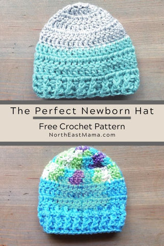 Perfect Newborn baby hat Northeast mama StraightHooked