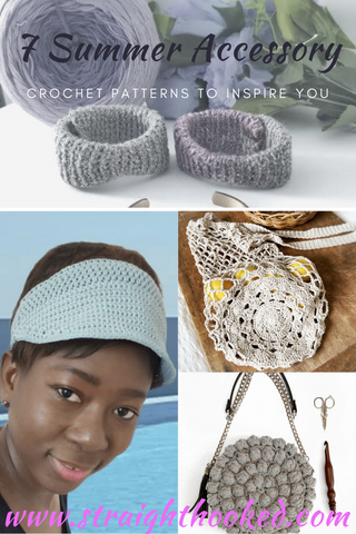 Straight Hooked 7 Crochet Accessory Patterns