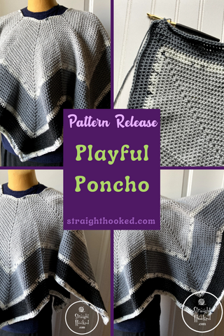 Straight Hooked Playful Poncho