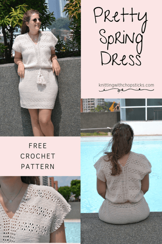 Pretty Spring Dress Knitting With Chopsticks Straight Hooked