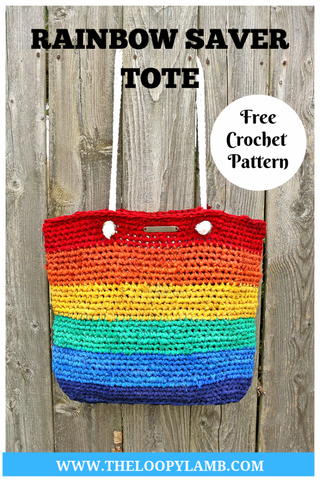 Rainbow Saver Tote The Loopy Lamb Straighthooked