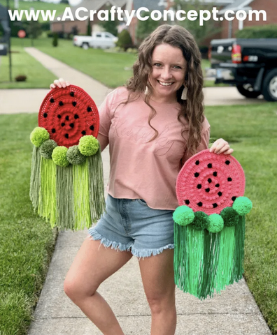 Straight Hooked Watermelon Hanging A Crafty Concept