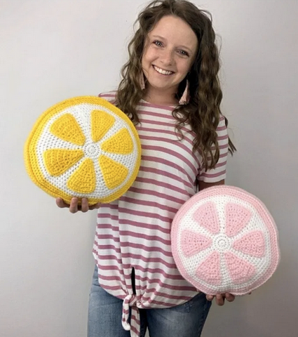Straight Hooked Lemon Pillow A Crafty Concept