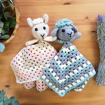Straight Hooked Emma Wilkinson Designs Granny Square loveys